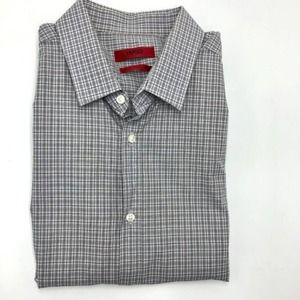Hugo Boss Plaid Slim Fit Dress Shirt 15.5